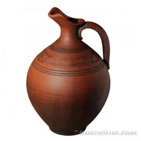 керамический кувшин, посуда из глины, обварная керамика, грузинская керамика