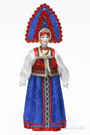 кукла в русском костюме, русская народная кукла
