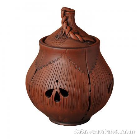 горшок для чеснока, обварная керамика, керамическая посуда