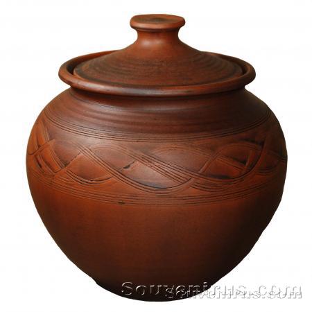 горшок для запекания, керамический горшок, горшок из глины