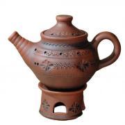 керамический чайник, глиняный чайник, обварная керамика, посуда из керамики