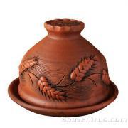 керамическая блинница, обварная керамика, керамическая посуда