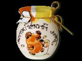 русский сувенир, сувенирный мёд, сувенир сибирячка, алтайский мед, горшочек алтайского меда