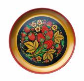 хохломская роспись, декоративная тарелка хохлома